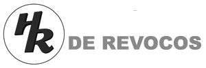 Logotipo de Hispnica de Revocos en blanco y negro